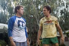 Will Ferrell and John C. Reilly wearing clothes they should have outgrown years ago.