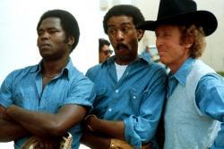 Georg Stanford Brown, Richard Pryor, and Gene Wilder in Stir Crazy.