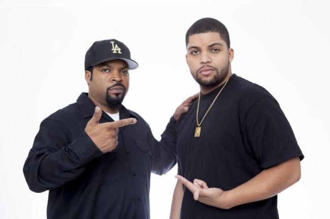 Ice Cube and his son O'Shea Jackson Jr.
