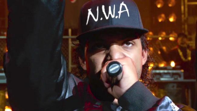 O'Shea Jackson Jr. as Ice Cube in Straight Outta Compton.