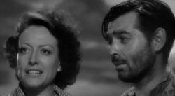 Joan Crawford and Clark Gable in Strange Cargo.