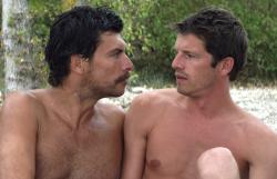 Christophe Paou and Pierre Deladonchamps in Stranger by the Lake.
