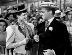 Rita Hayworth and James Cagney in The Strawberry Blonde.