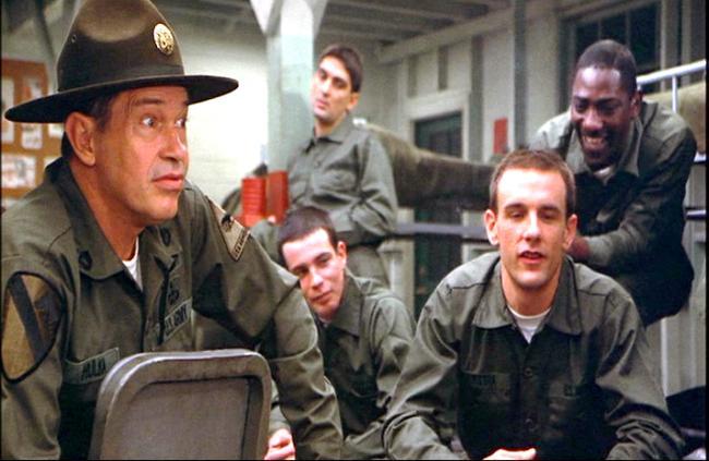 Warren Oates, Conrad Dunn and John Diehl in Stripes