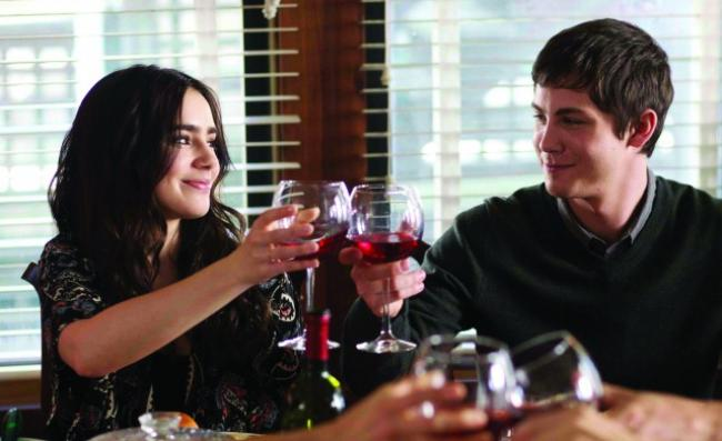 Lily Collins and Logan Lerman in Stuck in Love