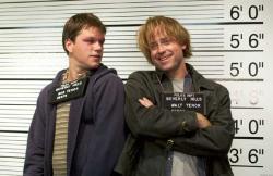 Matt Damon and Greg Kinnear in Stuck On You.