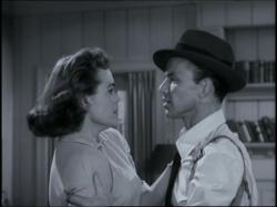 Nancy Gates and Frank Sinatra in Suddenly.