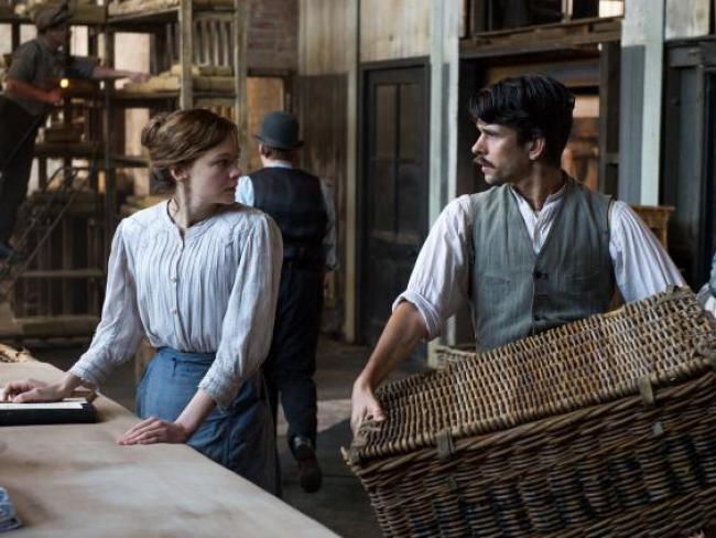 Carey Mulligan and Ben Whishaw in Suffragette.