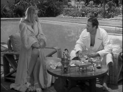 Leggy Veronica Lake and Joel McCrea in Sullivan's Travels.