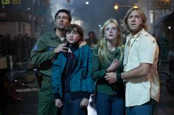 Kyle Chandler, Joel Courtney, Elle Fanning and Ron Eldard in Super 8.