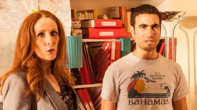 Catherine Tate and Brett Goldsetin in Superbob.