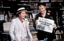 Ned Beatty and Gene Hackman in Superman: The Movie.