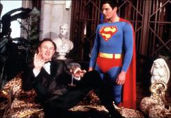 Gene Hackman and Christopher Reeve in Superman the Movie.