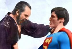 Terence Stamp and Christopher Reeve in Superman II.