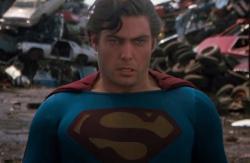 Christopher Reeve in Superman III.