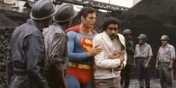 Christopher Reeve and Richard Pryor in Superman III.