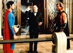 Christopher Reeve, Gene Hackman and Mark Pillow in Superman:  The Quest for Peace