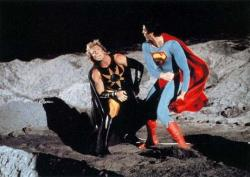 Mark Pillow and Christopher Reeve in Superman IV: The Quest for Peace.