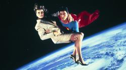Mariel Hemingway and Christopher Reeve in Superman IV: The Quest for Peace.