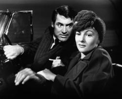 Cary Grant and Joan Fontaine take a fateful drive.