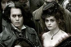 Johnny Depp and Helena Bonham Carter in Sweeney Todd: The Demon Barber of Fleet Street.