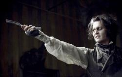 Johnny Depp in Sweeney Todd: The Demon Barber of Fleet Street.