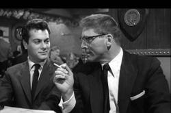 Tony Curtis and Burt Lancaster in Sweet Smell of Success.