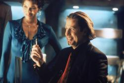 Halle  Berry and John Travolta in Swordfish.