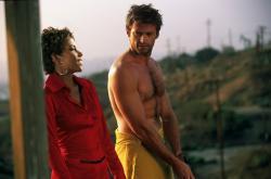 Halle Berry and Hugh Jackman in Swordfish.