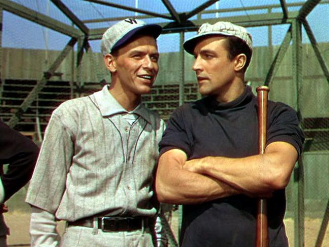 Frank Sinatra and Gene Kelly in Take Me Out to the Ball Game.