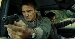 Liam Neeson and Maggie Grace in Taken 2.