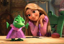 Mandy Moore provides the voice of Rapunzel in Disney's Tangled.
