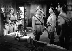 Boy and Tarzan held captive by Nazis in Tarzan Triumphs.