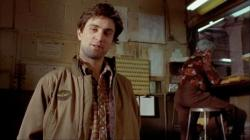 Robert De Niro is Travis Bickle in Taxi Driver.