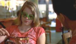 Jodie Foster as Iris has breakfast with De Niro's Travis in Taxi Driver.