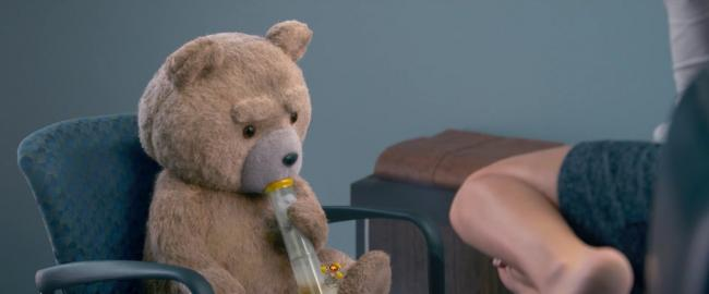 Ted getting high