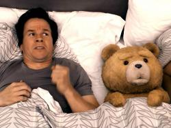 Mark Wahlberg and his Thunder Buddy in Ted.