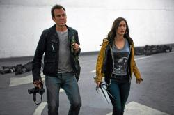 Will Arnett and Megan Fox in Teenage Mutant Ninja Turtles.