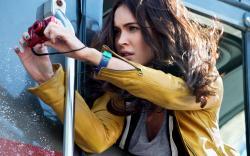 Megan Fox in Teenage Mutant Ninja Turtles.