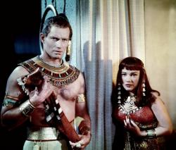 Charlton Heston and Anne Baxter in The Ten Commandments.