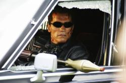 Arnold Schwarzenegger in T3: Rise of the Machines.