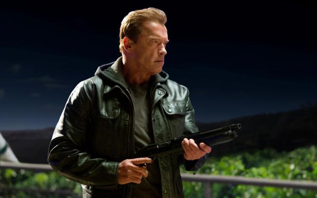 Arnold Schwarzenegger in Terminator Genisys.