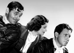 Clark Gable, Myrna Loy and Spencer Tracy in Test Pilot.