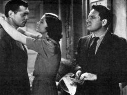 Glark Gable, Myrna Loy and Spencer Tracy in Test Pilot.