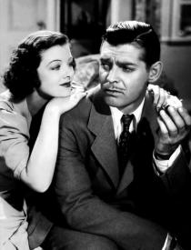 Myrna Loy and Clark Gable in Test Pilot.