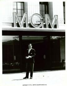 Frank Sinatra at the entrance to the fabled MGM studios.