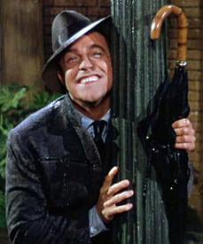 Gene Kelly performing possibly the most memorable MGM number of all time, Singing in the Rain.
