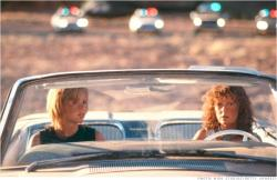 Geena Davis and Susan Sarandon in Thelma and Louise.