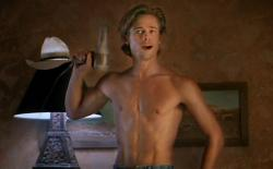 Brad Pitt providing the ladies with some eye candy in Thelma and Louise