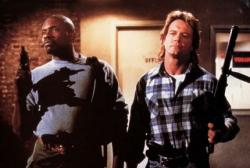 Keith David and Roddy Piper in John Carpenter's They Live.